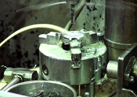 drilling machine for making stainless steel valves, vacuum fittings, vacuum components